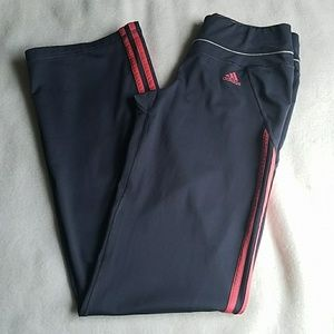 Adidas Pink and Grey Athletic Pants